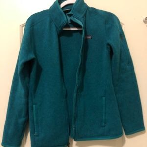 Patagonia Women's Better Sweater in Teal Medium